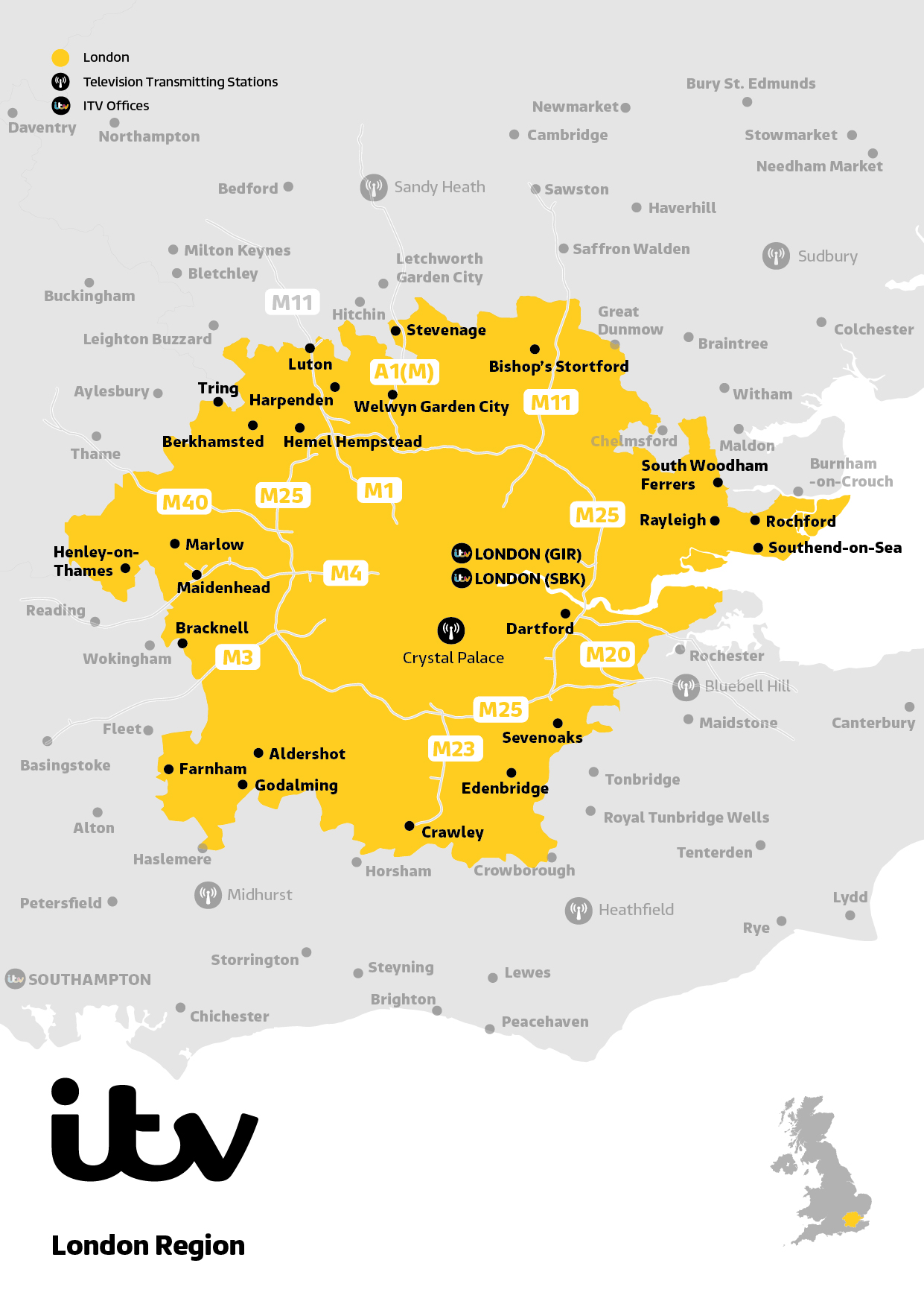 ITV Map London 2019