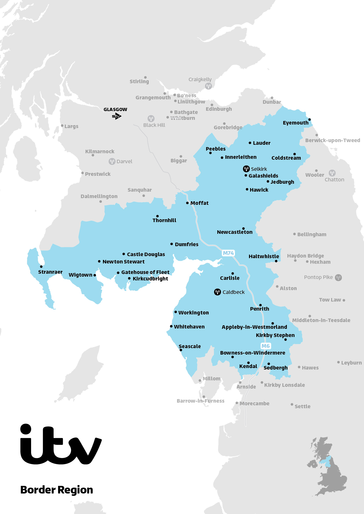 ITV Map Border 2019