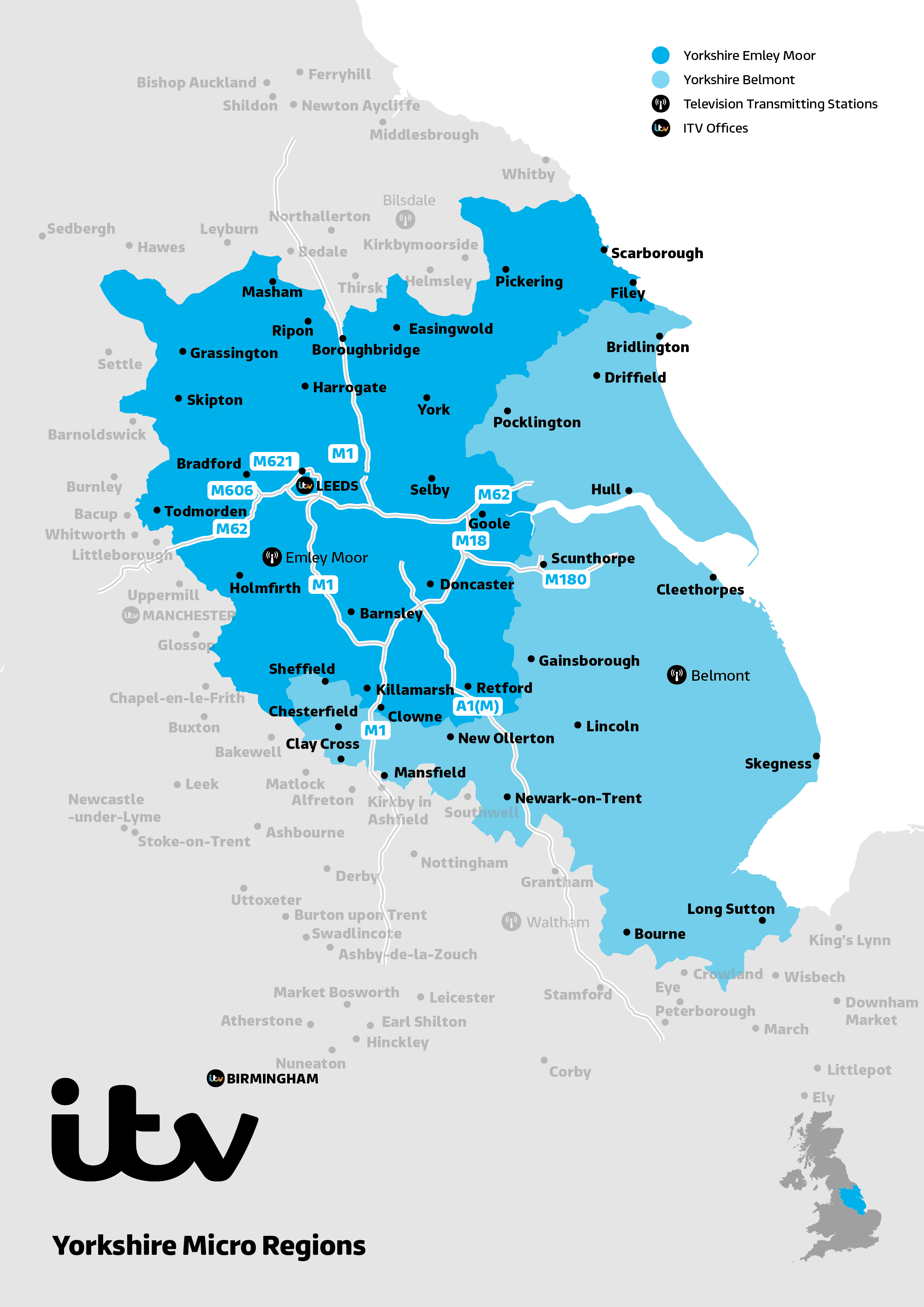 ITV Map Yorkshire Micro
